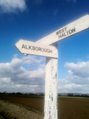 Alkborough road sign